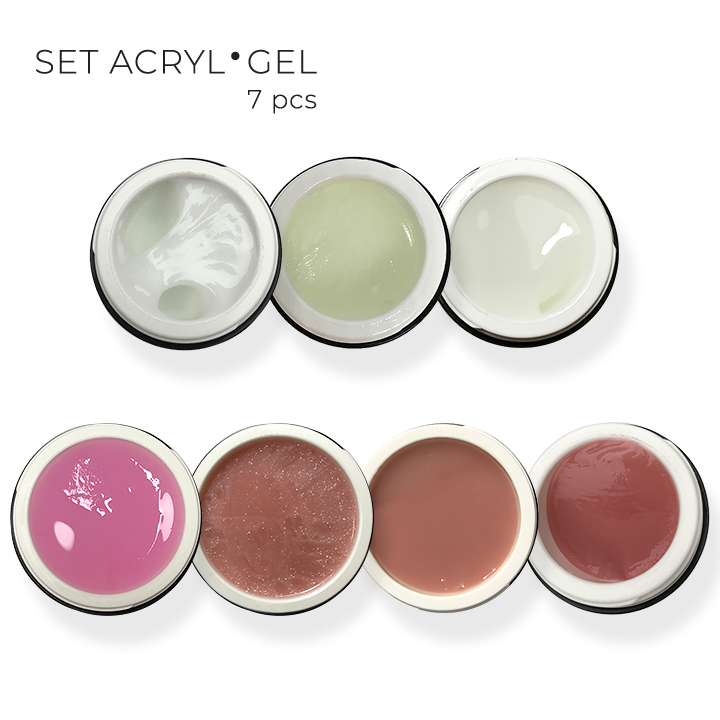 Set Acryl Gel 30ml – 7ps.