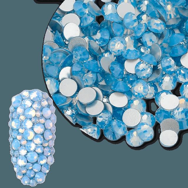 Nail Crystal opal blue ss4-ss20