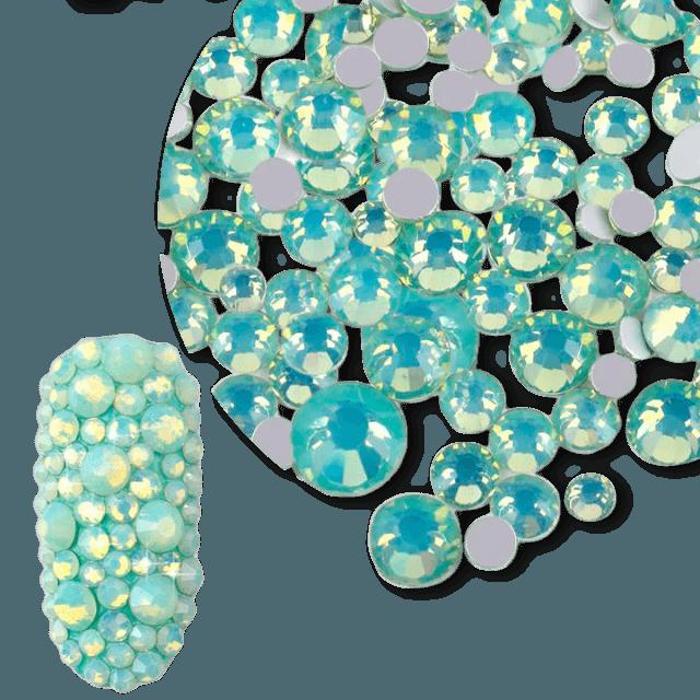Nail Crystal opal green ss4-ss20