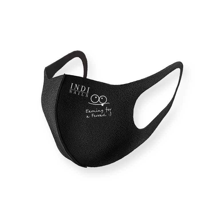 Face mask pitta – black (logo Feffari )