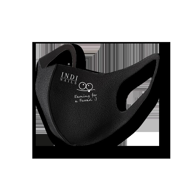 Face mask pitta — black (logo Feffari )