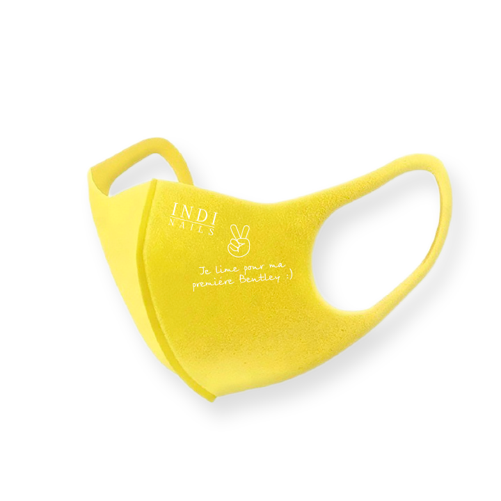 Face mask pitta – yellow (logo Bentley )