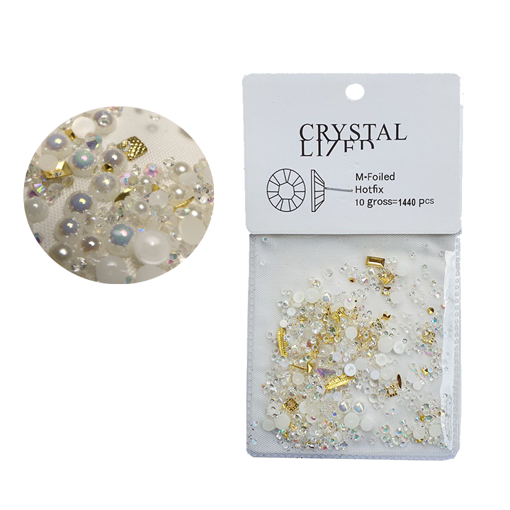 Crystal nail art mix ( strass, perl…) -1440 pcs