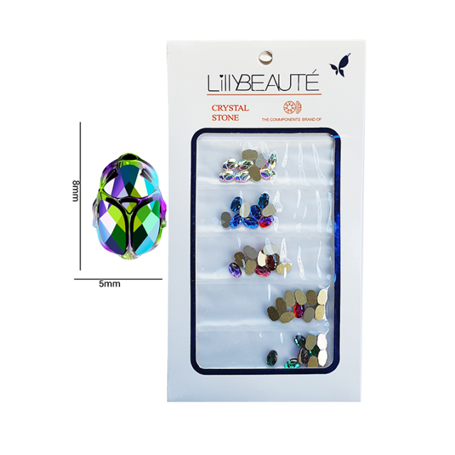 Crystal scarab beetle mix – 48pcs