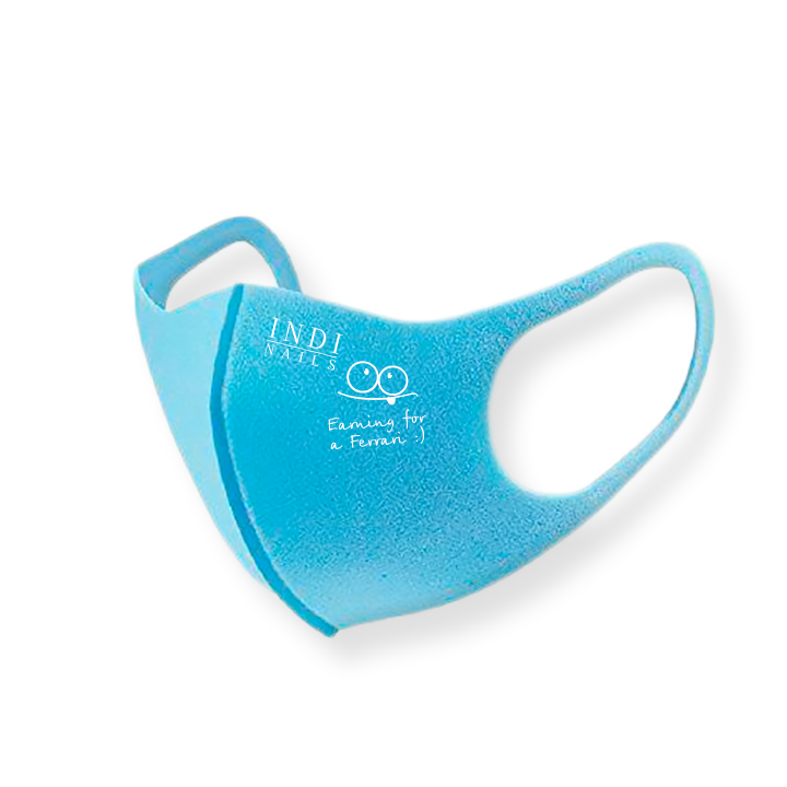 Face mask pitta – blue (logo Ferrary  )