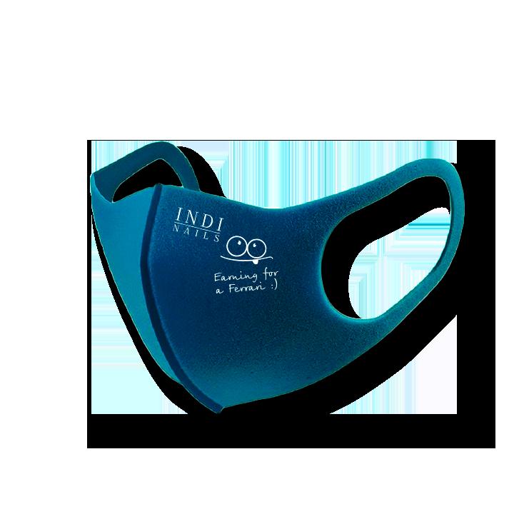 Face mask pitta – turquoise (logo Ferrary   )