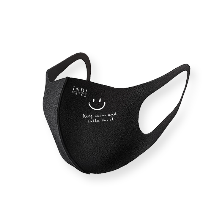 Face mask pitta – black ( keep calm & smile on :)