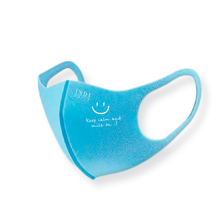 Face mask pitta — blue ( keep calm & smile on :)