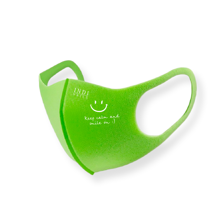 Face mask pitta – green ( keep calm & smile on :)