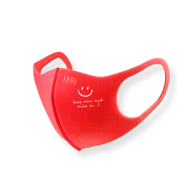Face mask pitta – red ( keep calm & smile on :)
