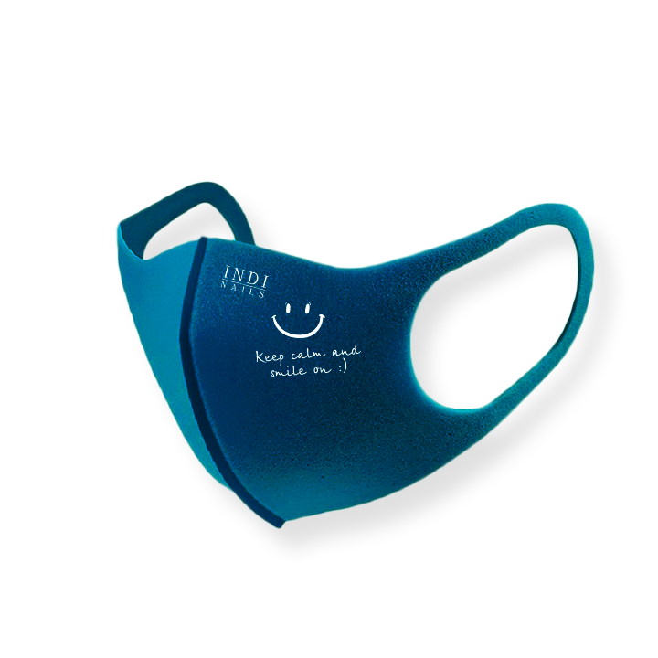 Face mask pitta – turquoise  ( keep calm & smile on :)