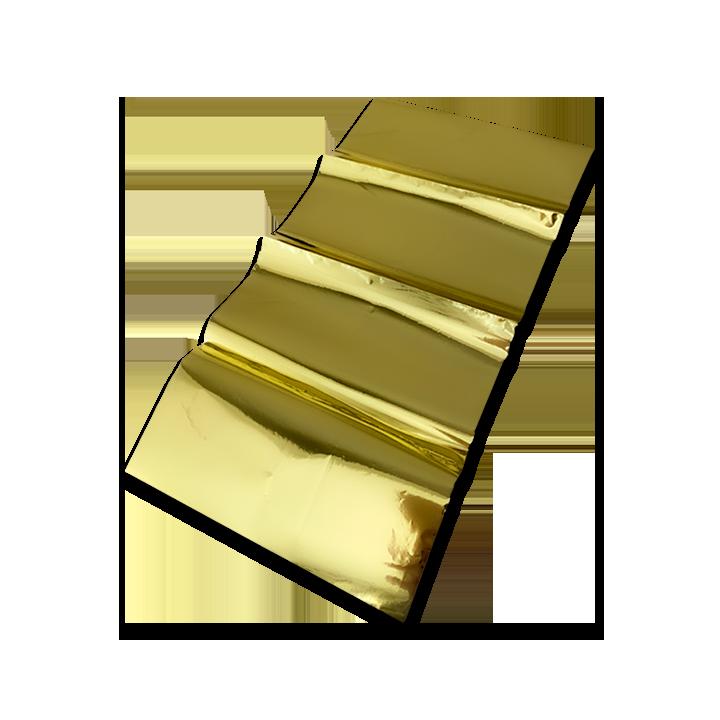 Gold foil -12x25sm